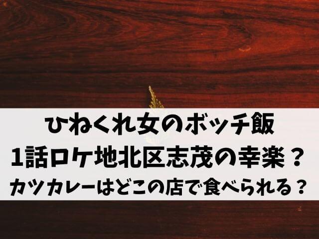 ひねくれ女のボッチ飯1話ロケ地は北区志茂の幸楽?カツカレーはどこの店で食べられる?