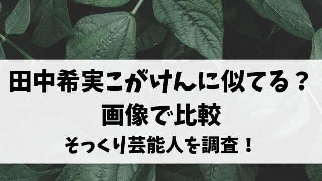 田中希実こがけんに似てる?画像で比較そっくり芸能人を調査!