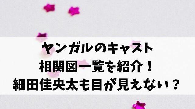 ヤンガルのキャスト相関図一覧を紹介!細田佳央太も目が見えない?