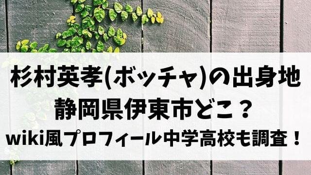 杉村英孝(ボッチャ)の出身地は静岡県伊東市どこ?wiki風プロフィール中学や高校も調査!